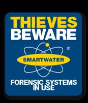 Smartwater warning sign